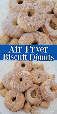 How to make Air Fryer Donuts at home! This easy donut recipe using Grands canned biscuits takes minutes to prepare and tastes amazing. So easy to make for breakfast or brunch.