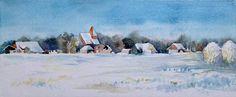 Aquarelle von Frank Koebsch während der regio:polis | Wintertraum (c) Aquarell von Frank Koebsch