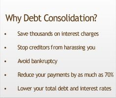 The DEBTMANAGERS, Debt Consolidation Canada service is not a consolidation loan, but the end result is much the same. You will make just one monthly payment (or it can be split into two half payments each month) to cover all monthly obligations to your creditors