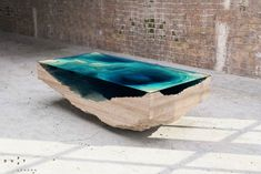 "The ""Abyss"" layered glass table by Duffy London"