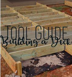 Backyard Makeover: Floating Deck – Phase 1 – Handmade Haven - Modern Deck Building Plans, Deck Plans, Cool Deck, Diy Deck, Laying Decking, Floating Deck, Privacy Walls, Deck Builders, Faux Fireplace