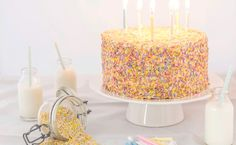 This white celebration cake with cream cheese frosting is an American classic.  Just what a kid would love.