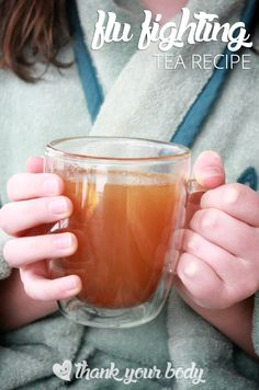 This flu fighting tea recipe is a must-have during cold and flu season.