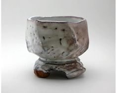 Carved-out Teabowl by Hagi artist Kaneta Masanao