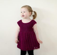 Toddler Shell Dress | AllFreeCrochet.com