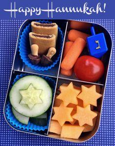 Happy Hannukah bento school lunch