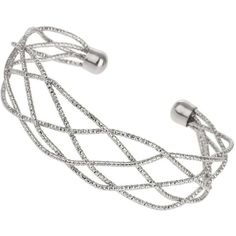 Silver Lattice Cuff ($18) ❤ liked on Polyvore featuring jewelry, bracelets, accessories, silver, silver bracelet bangle, silver jewellery, cuff bangle, cuff jewelry and bracelet bangle