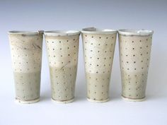 Laura B. Cooper Ceramics - polka dot cups