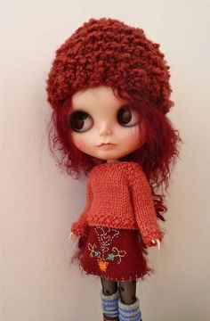 skirt, hat and sweater set  by MoggyMoo, via Flickr