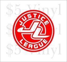 Justice League emblem Vinyl Car Decal, Wonder Woman, Superman, DC, Sticker, Superfriends, Batman, Window Decal - pinned by pin4etsy.com