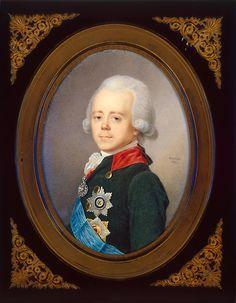 Портрет императора Павла I. Художник Жан Анри Беннер, 1821 год