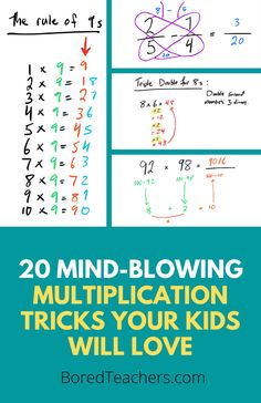 Multiplication Tricks, Maths Tricks, Math Hacks, Math Strategies, Math Resources, Math Activities, Math Tips, Simple Math, Easy Math