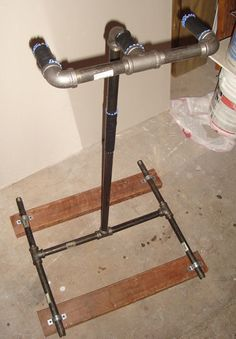 DIY Home Bicycle Repair Stand - Made with plumbing piping