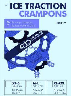 Crampones para corredores de montaña: Crampones italianos Ice traction (37€/470gr) disponibles en tres tallas.  Análisis técnico y experiencias reales de uso.
