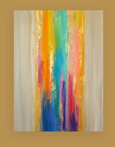 Art Acrylic Abstract Painting Original Canvas by OraBirenbaumArt