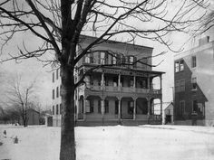 Rochester Homeopathic Hospital was housed in this three story building at 233 Monroe Ave. in 1889.  The name was changed to Genesee Hospital...