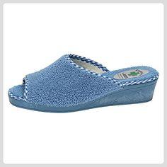 KOKIS , Damen Hausschuhe, blau - Bläulich - Größe: 41 - Hausschuhe für frauen (*Partner-Link)