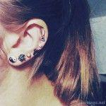 Multiple ear piercings - http://cutepiercings.net/multiple-ear-piercings/ #piercings #piercing #earpiercing #multiplepiercings