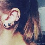 Multiple ear piercings - http://cutepiercings.net/multiple-ear-piercings/ #piercings #piercing #earpiercing #multiplepiercings