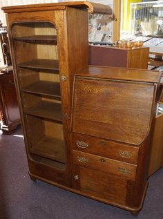 Antique Oak Secretary - $850