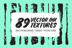 89 Vector Ink Textures by Abbie May on @creativemarket