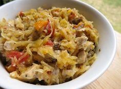 Paleo Chicken Spaghetti - My Heart Beets. Leave out the white wine to make it more paleo compliant. or leave in for a treat! Chicken Spaghetti Recipes, Paleo Chicken Recipes, Primal Recipes, Whole Food Recipes, Cooking Recipes, Healthy Recipes, Paleo Food, Healthy Food, Paleo Meals