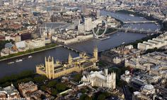 Image result for london aerial view airplane