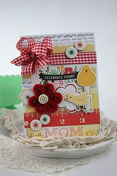 happy mothers day card-MAMA and BABY CHICK-celebrate today mom