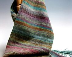 Handwoven Silk and Wool Scarf: Day 99