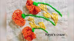 Lace flower hand embroidery tutorial | Keya's craze |166