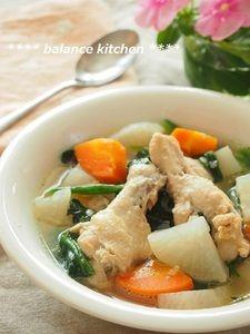 圧力鍋で時短!鶏手羽元と野菜の塩麹ポトフ