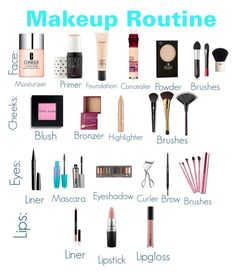 Vollstndige Routine Make-up / Collection – – Maquillage des Yeux Make Up Kits, Make Up Geek, Full Makeup, Makeup And Beauty Blog, Beauty Products, Basic Makeup, Makeup Products, Beginner Makeup Kit, Makeup For Beginners