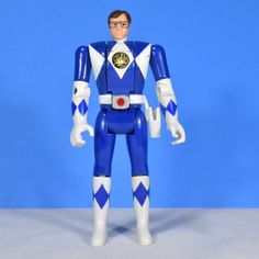Blue Ranger Mighty Morphin Power Rangers 1993 Auto Morphin Rangers no gun or sword Approximately 5.5 inches tall