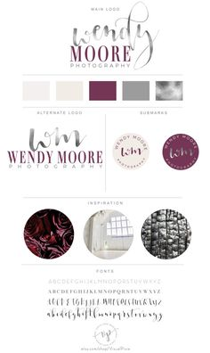 Branding Package Purple Silver  Event Wedding by VisualPixie