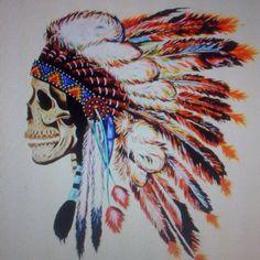 Native American Chief Skull
