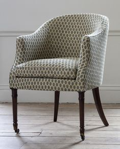 The Fawley Is A George IV Style Tub Chair On Tapering Legs Ending In Brass  Cappings
