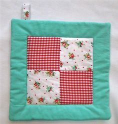 Adorable potholder by Jacklyn Modery at cornflowercreations.etsy.com - made with my most favorite floral & dotty fabric (Cottage Garden Allover Flowers)