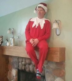 A live elf on the shelf
