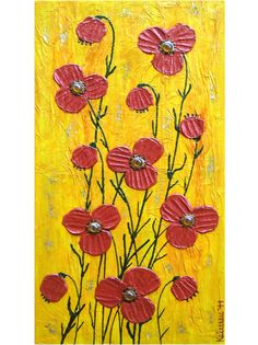 Yellow Revelation original painting collage 157x315 40 by Pepponi, €89.00