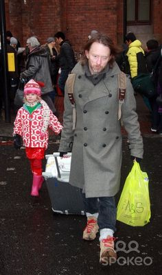 Thom yorke and daughter Agnus shopping