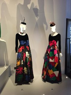 Evening Gown Inspired by Henri Matisse's cut-outs. Autumn-Winter 1980 haute couture collection