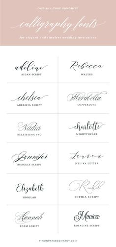 Want to know the secret to DIY wedding invitations that don't look DIY? The … Want to know the secret to DIY wedding invitations that don't look DIY? The font! Here are the best fonts for wedding invitations that won't break the bank. Wedding Invitation Trends, Invitation Kits, Beach Wedding Invitations, Rustic Invitations, Wedding Invitation Wording, Invitation Design, Invitation Envelopes, Invites, Wedding Invitations With Pictures