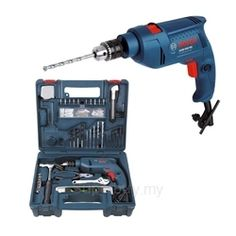 Bosch GSB 500 RE Impact Drill DIY Power Tools Set (10mm Chuck with 100 Accessories)