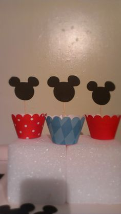 Mickey Mouse Cupcake Toppers.