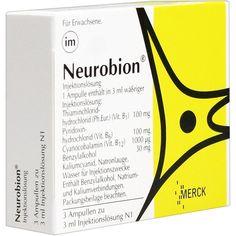 NEUROBION Vitamin B1 + B6 + B12 Ampullen:   Packungsinhalt: 3X3 ml Ampullen PZN: 00720674 Hersteller: Merck Selbstmedikation GmbH Preis:…