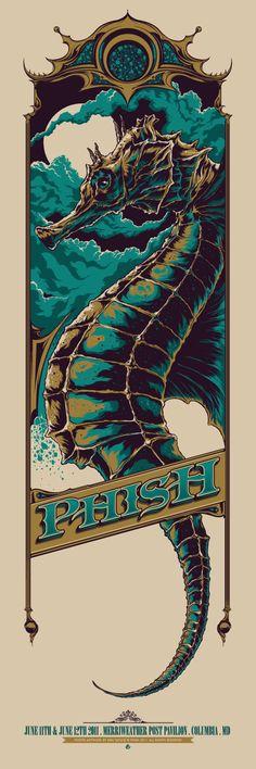 Ken Taylor. Phish concert poster.