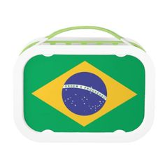 Brasil flag lunch box - home gifts ideas decor special unique custom individual customized individualized