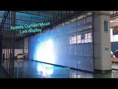 Apexls Mesh or Curtain led display for outdoor , Apexls Lily Lau 008613602598446 - YouTube