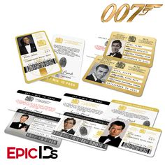 James Bond Inspired Secret Intelligence Service ID (Complete Collection)
