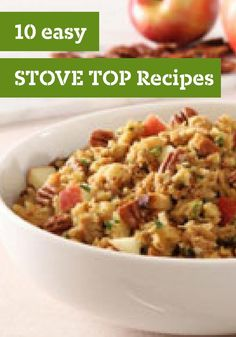 10 Easy STOVE TOP recipes — From the actual Thanksgiving feast to leftover turkey dishes, STOVE TOP Stuffing can help you make a turkey stuffing customized to your taste. To brush up on the basics, take a look at our step-by-step, illustrated guide to how to cook turkey and stuffing.
